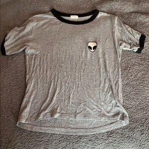 Brandy Melville alien patch t shirt